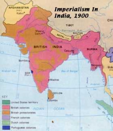 British Colonialism In India Map Of India
